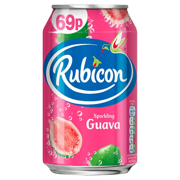 Rubicon Sparkling Guava Juice Drink 330ml Can