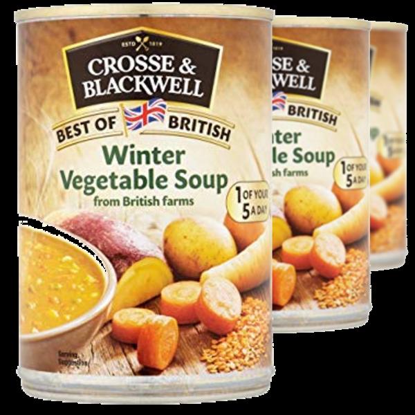FLAVA BENEFITS Crosse & Blackwell Winter Vegetable Soup 400g (3 Pack)