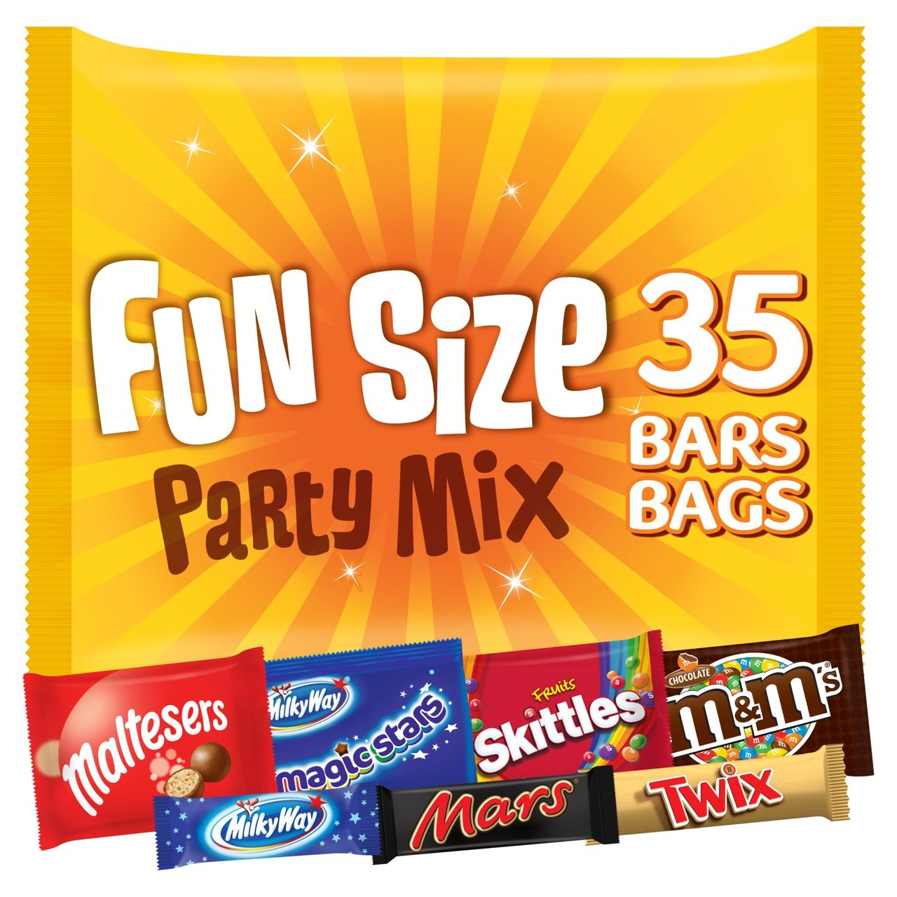 Best Before 19/07/2020 M&M's Funsize Party Mix 35 Bars Bags