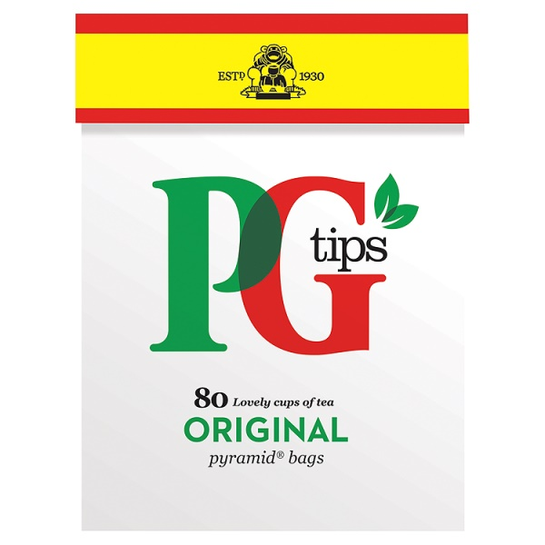 FLAVA BENEFITS PG tips 80s Pyramid Teabags 232g
