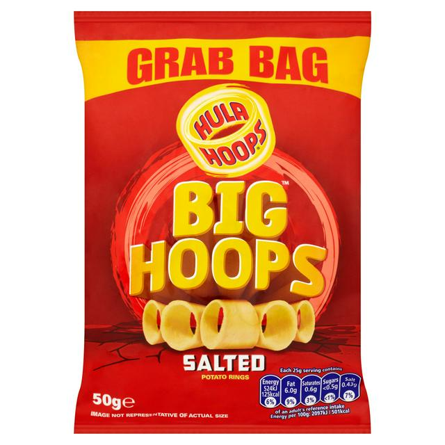 Best Before 22/08/2020 Hula Hoops Big Hoop Ready Salted 50g