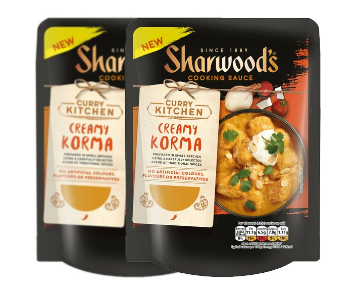 Sharwoods Creamy Korma Curry Sauce 250G (Twin Pack)