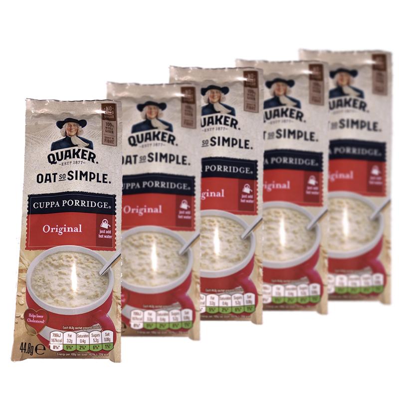 TODY ONLY - 1P  - Quaker Oat So Simple Cuppa Porridge Original 44.8g (5 Pack)