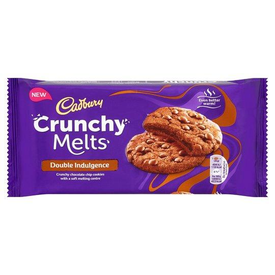 Cadbury Crunchy Melts Chocolate Centre Chocolate Chip Cookies