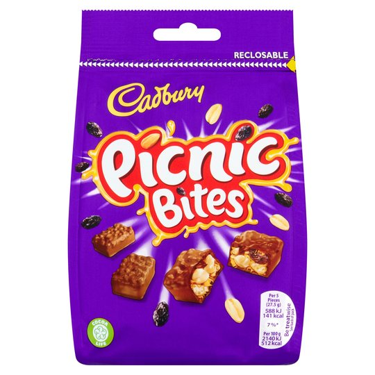 Best Before 21/08/2020 Cadbury Picnic Bites