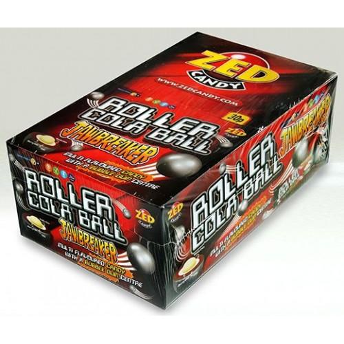 Zed Candy Roller Cola Ball Jawbreaker Case of 30