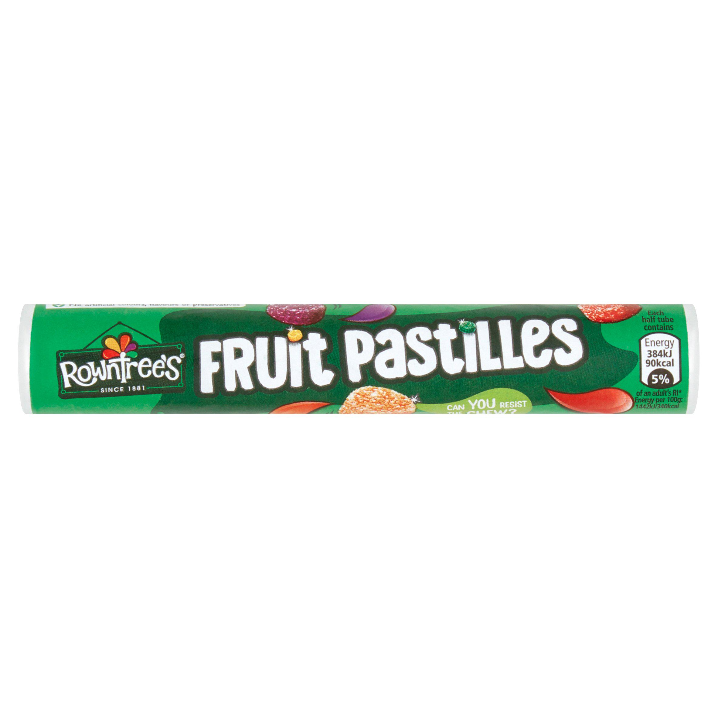 Best before 31/12/2020 Rowntrees Fruit Pastilles Sweets Tube 52.5g