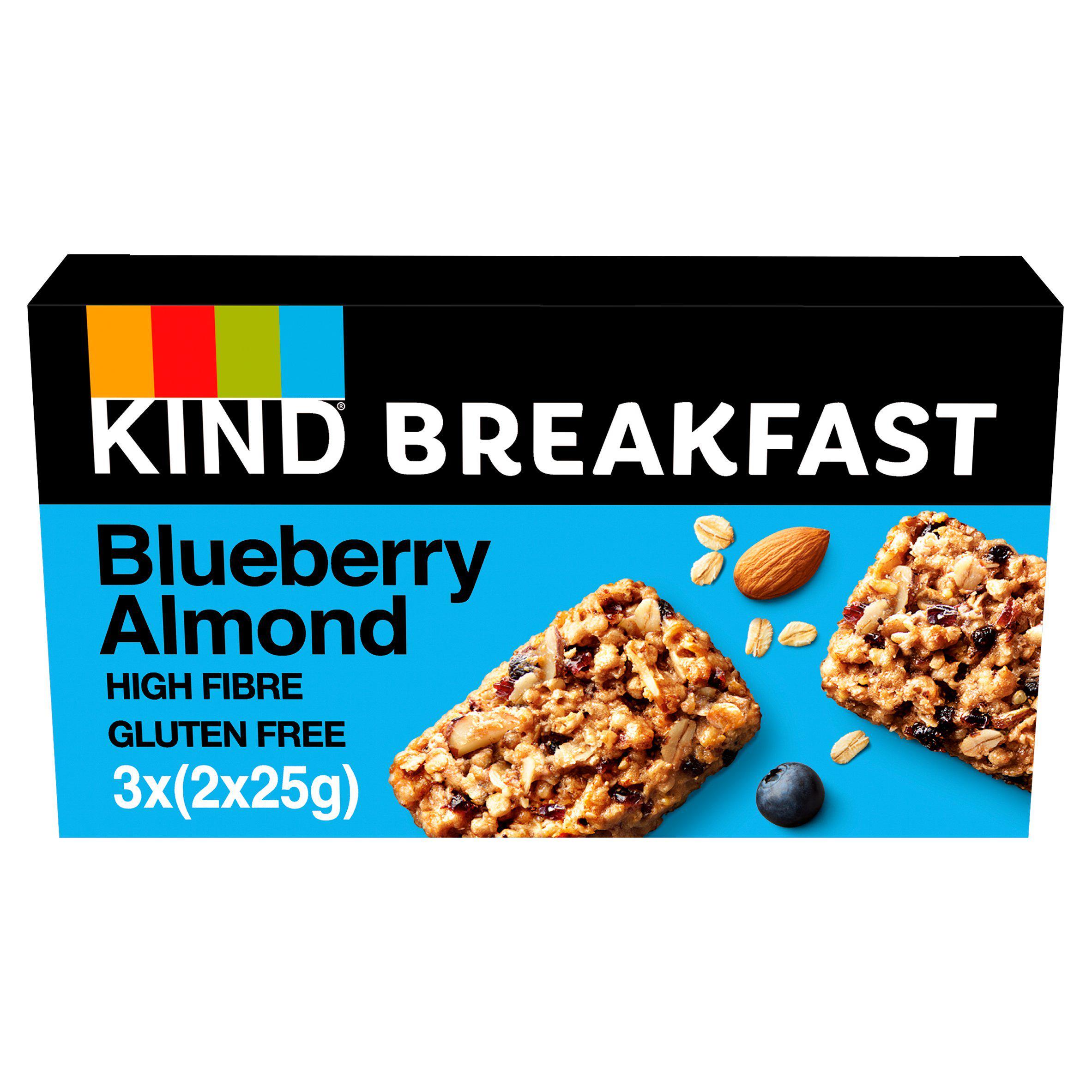 KIND Breakfast Blueberry & Almond Bar Multipack 3x50g
