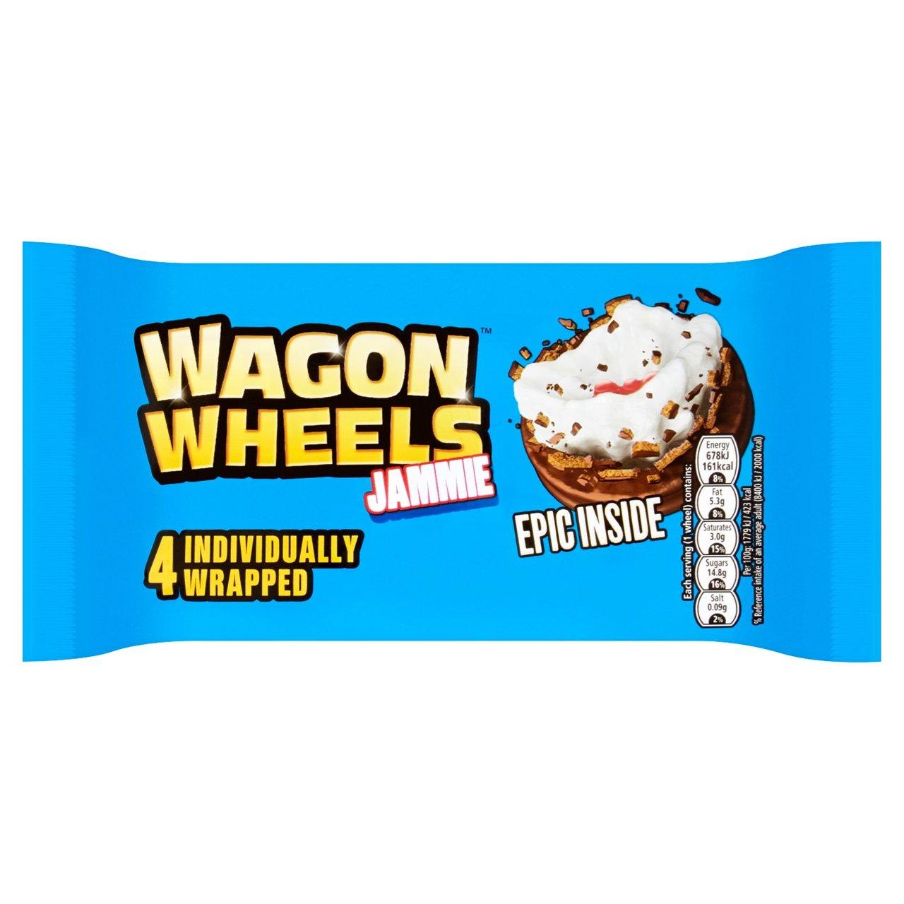Wagon Wheels Jammie 4 per pack