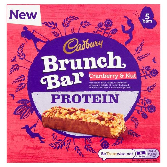 Cadbury Brunch Bar Cranberry & Nut Protein 5 Bars