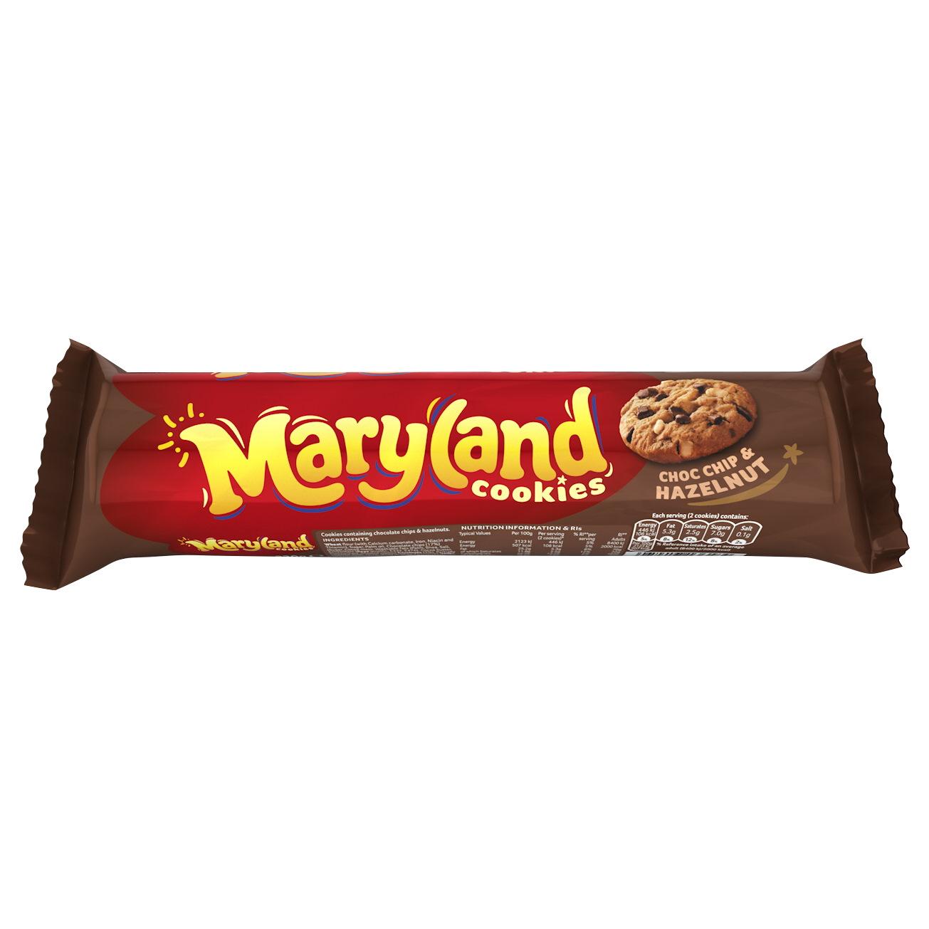 maryland choc chip & hazelnut cookies