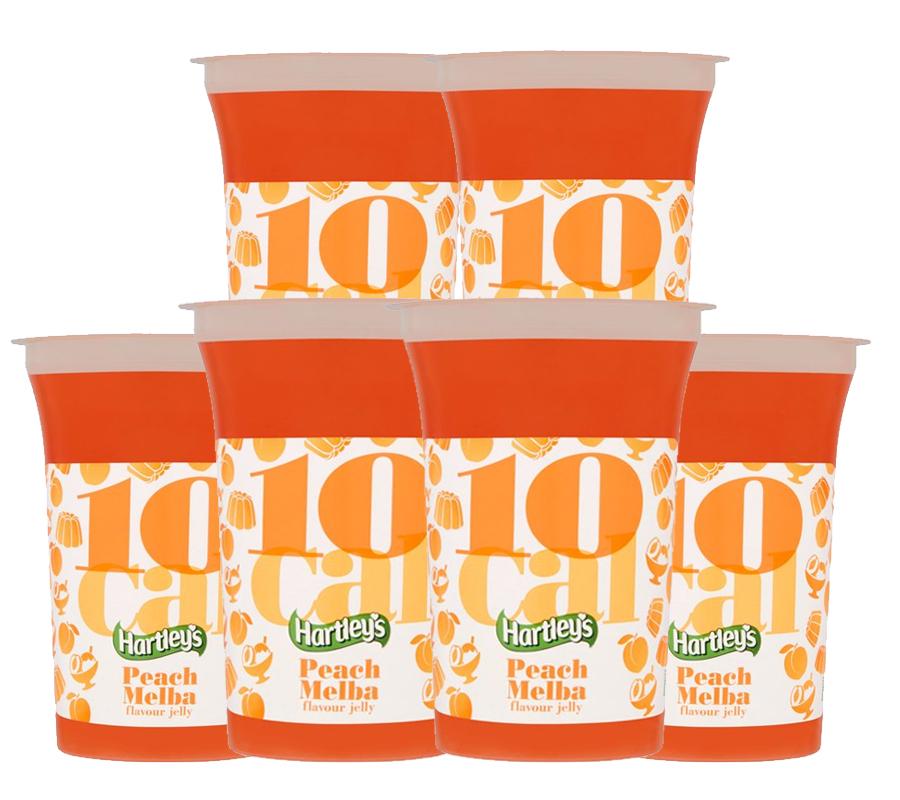 Best Before 31/11/2020 6 pack, Hartleys 10 Calorie Peach Melba Jelly 175G