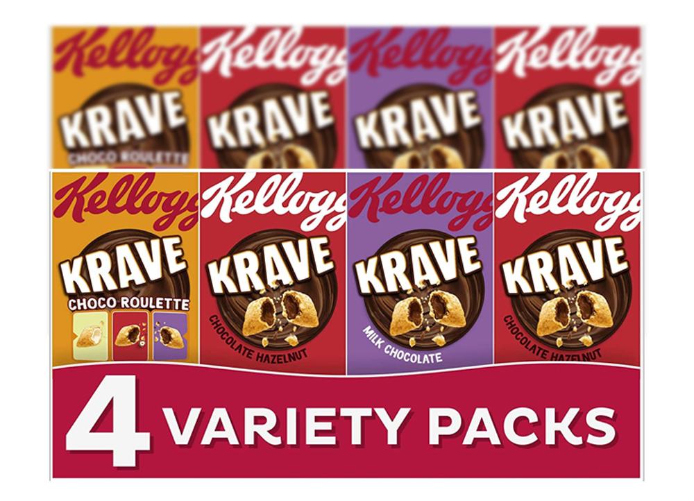 Twin Pack Kelloggs Krave 4 Variety Packs