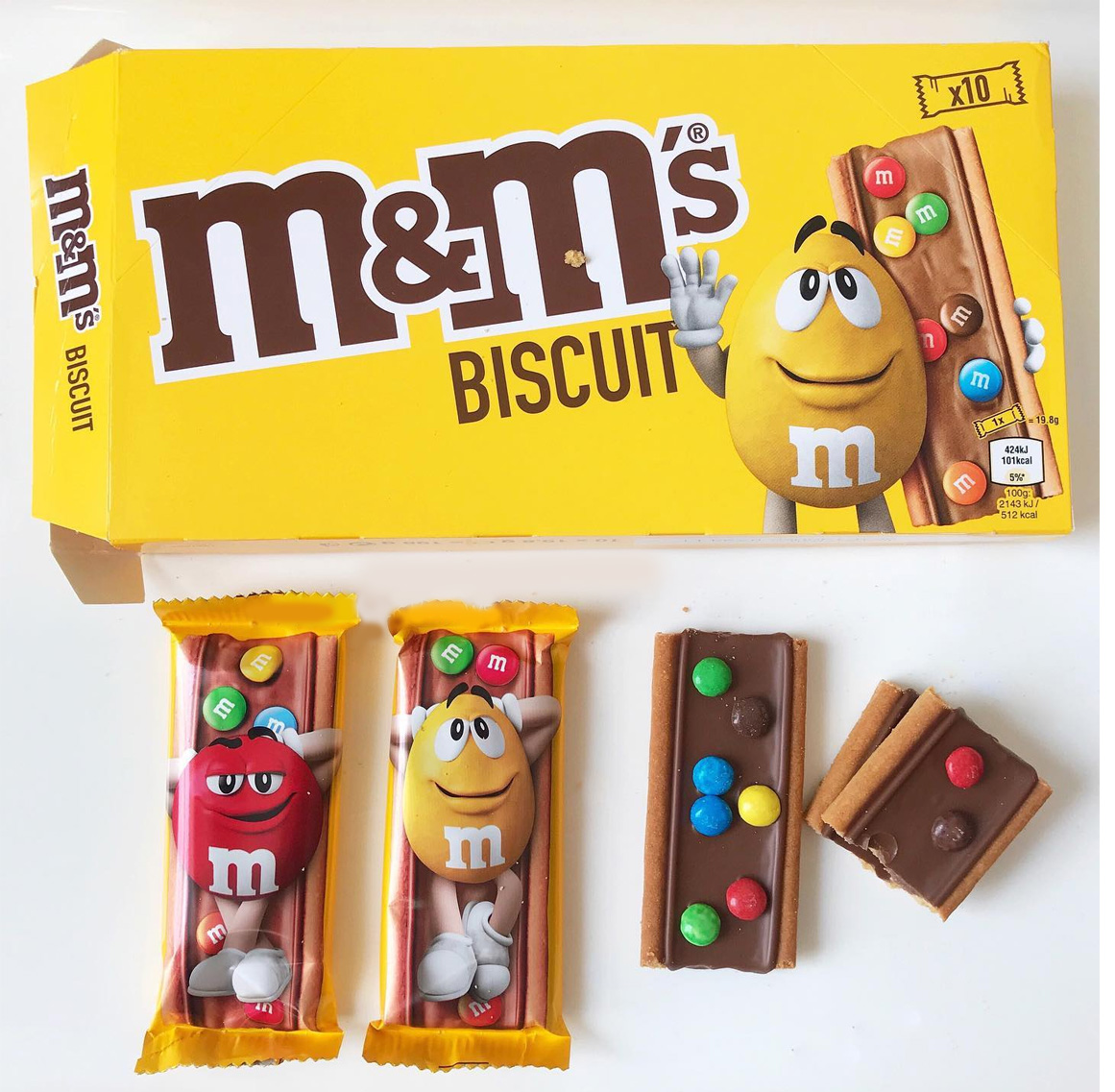M&Ms Biscuits Box of 10