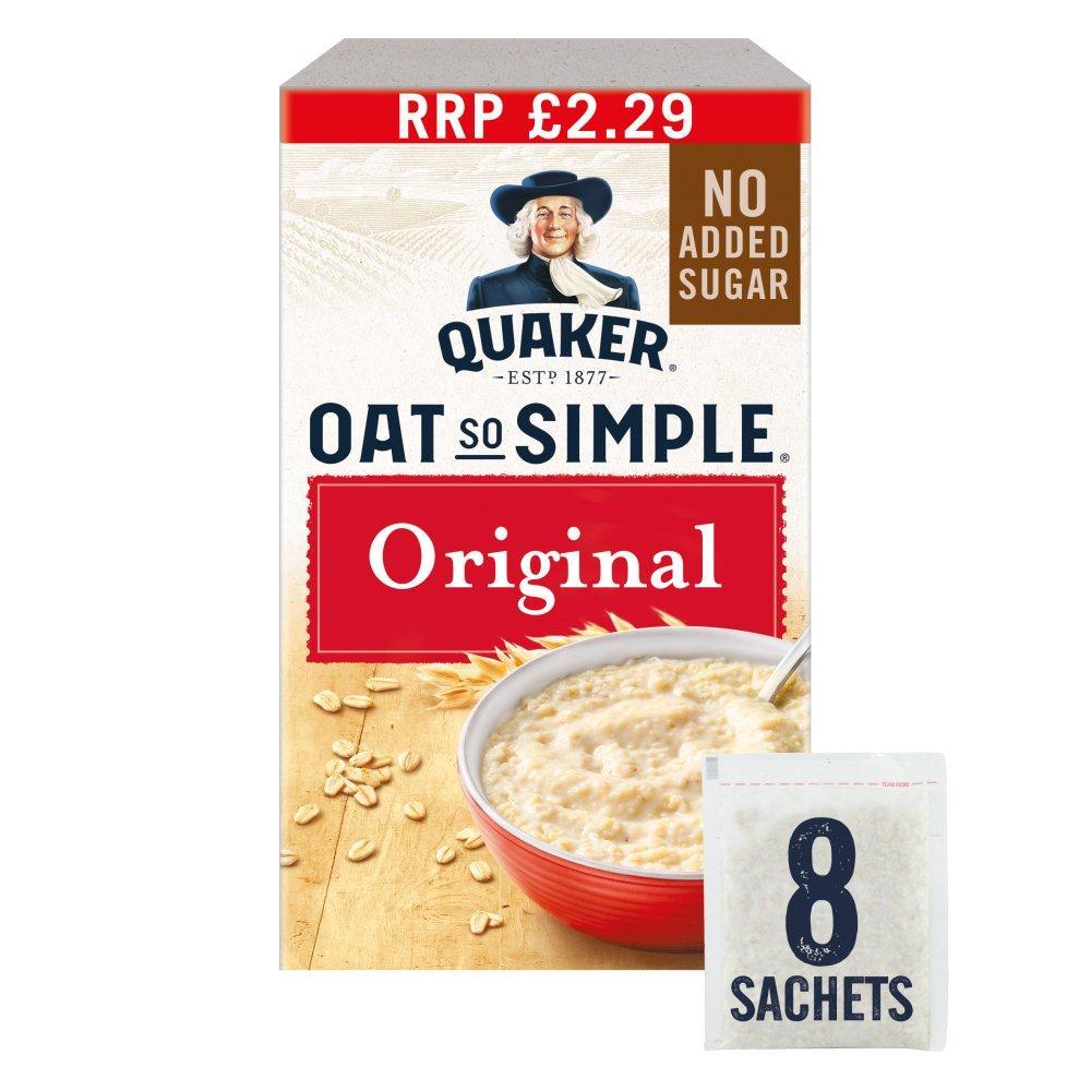 Quaker Oat So Simple Original Porridge Sachets 8 pack