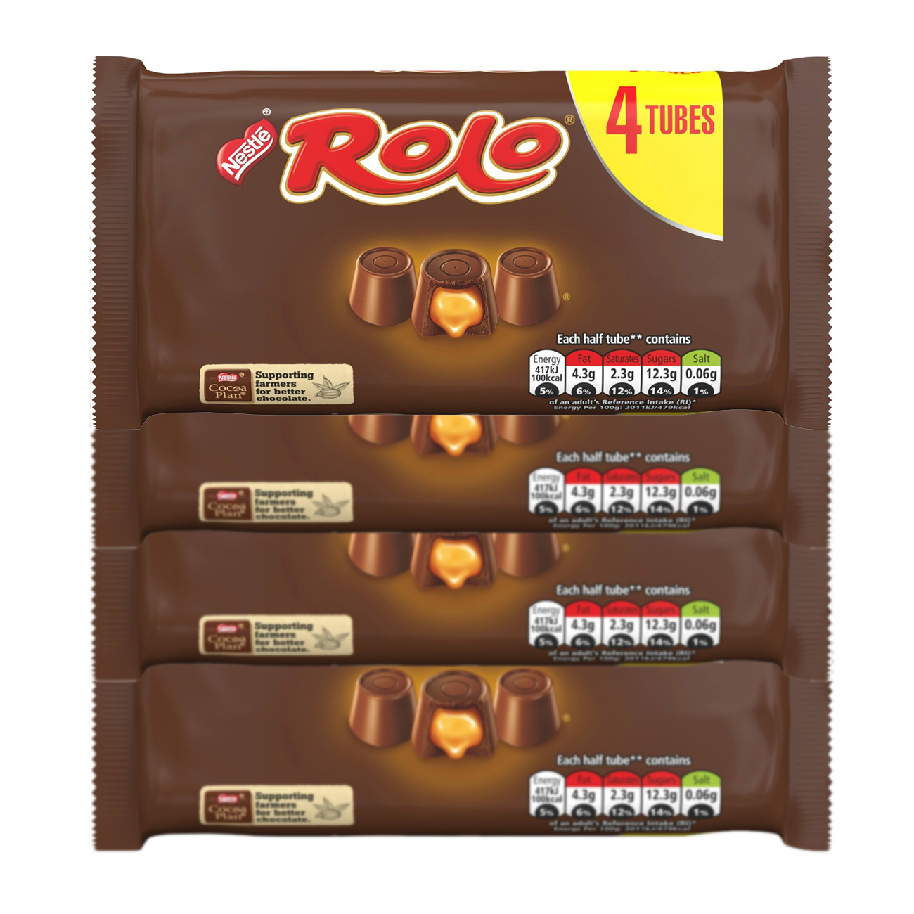 4 Pack Rolo Milk Chocolate & Caramel Multipack 41.6g 4 Pack