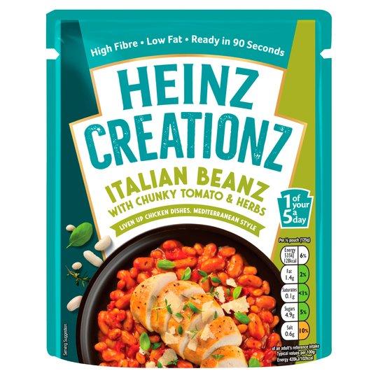 Heinz Creationz Italian Beanz Pouch 250G