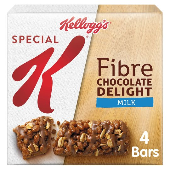 Best Before 06/02/2021 Kelloggs Special K Milk Chocolate Chewy Delight 4X24g