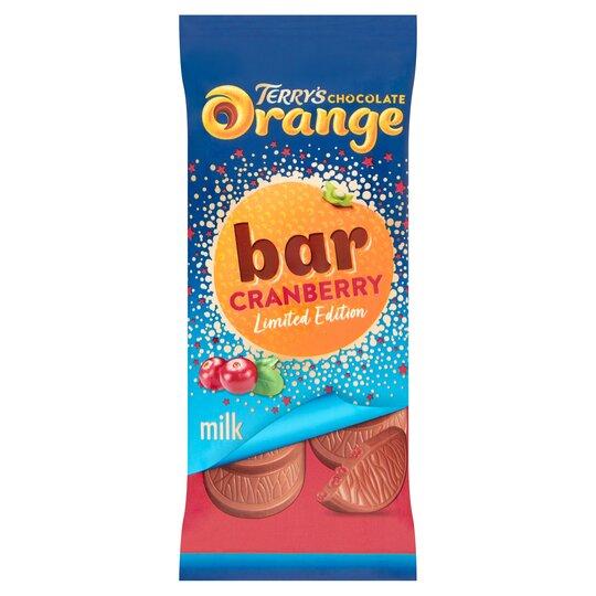 Terrys Chocolate Orange & Cranberry Bar 90G