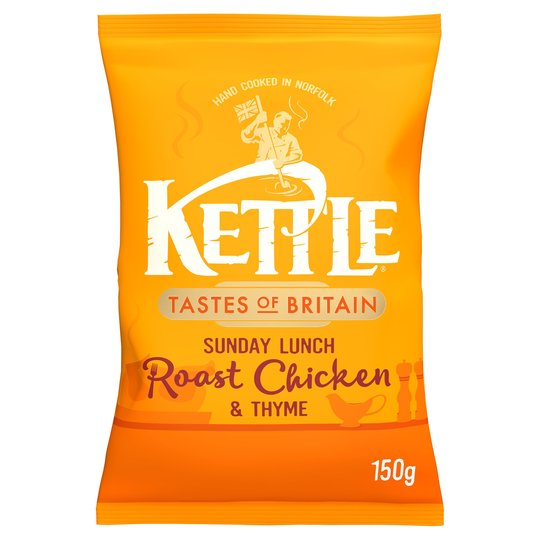 BEST BEFORE 27/03/2021 Kettle Chips Roast Chicken & Thyme 150G