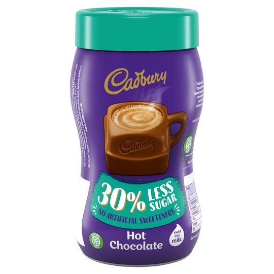 Cadbury Hot Chocolate 30% Less Sugar 280G