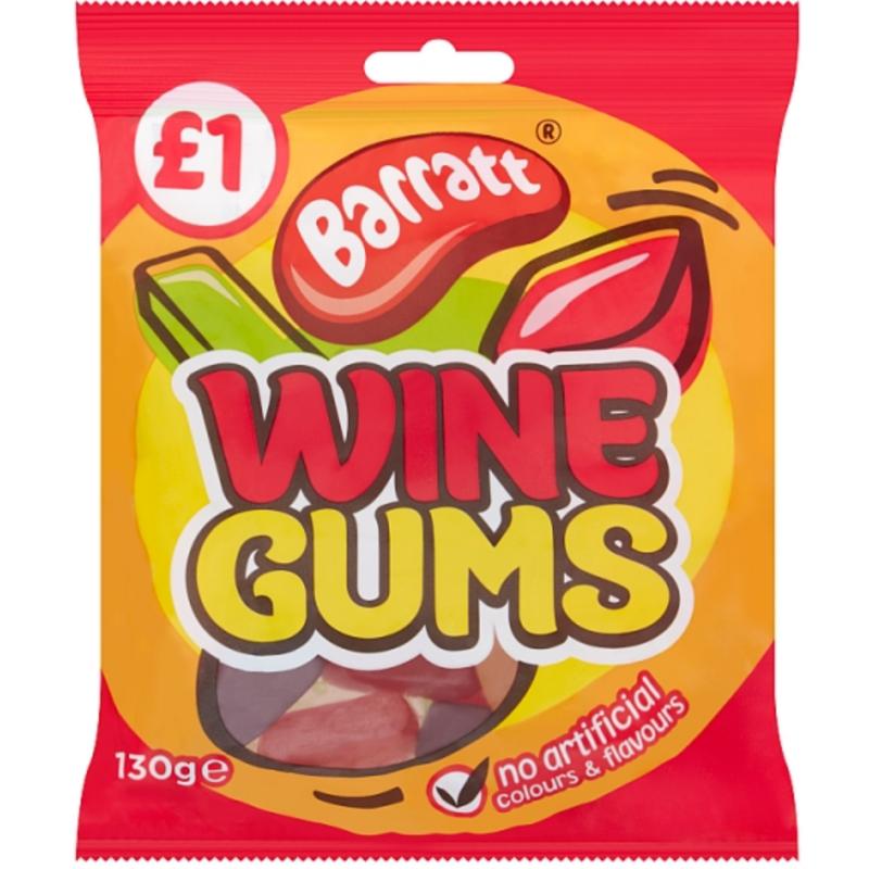 Barratts Wine Gums 130g