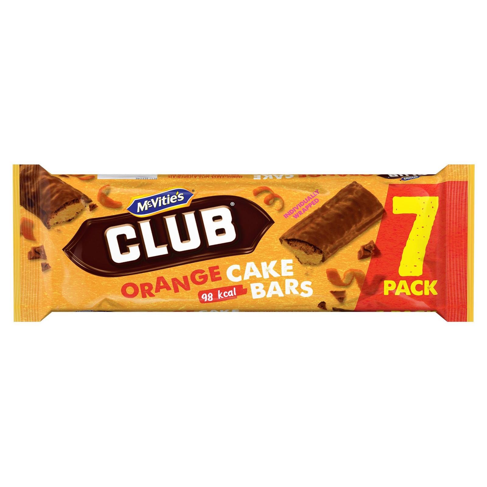 Best Before 03/08/2021 McVities Club 7 Orange Cake Bars