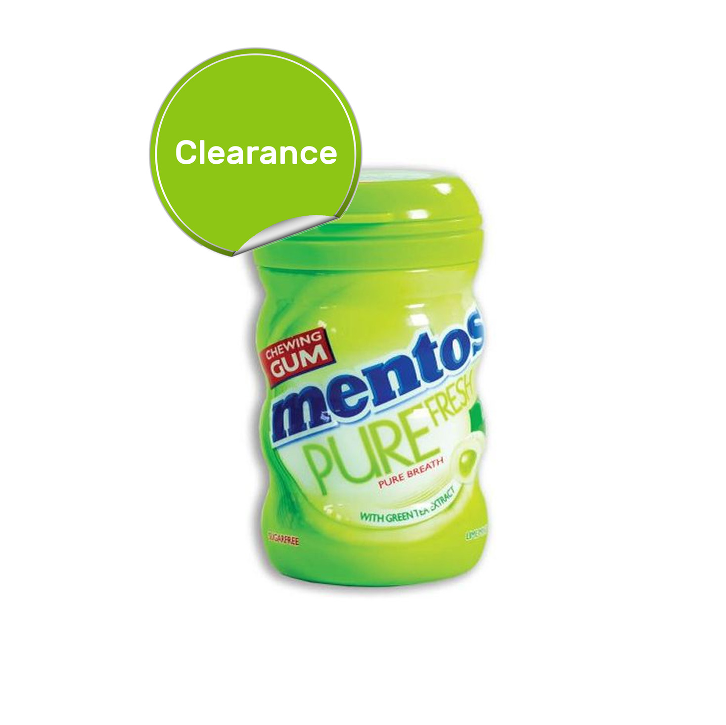 Best Before 01/04/2021  Mentos Chewing Gum Tub - Pure Fresh Lime Mint