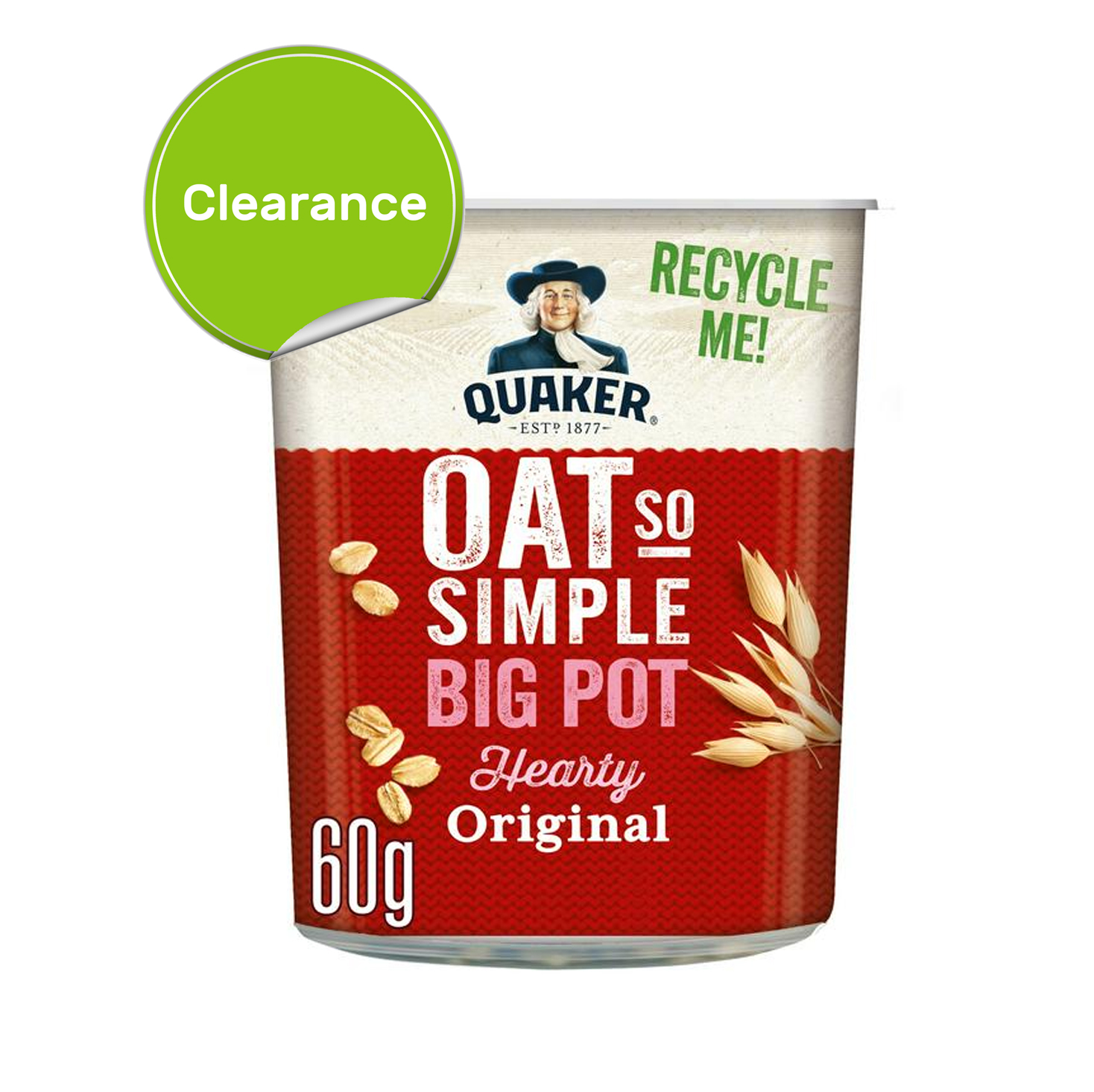 Best Before 31/07/2021 Quaker Oat so Simple Big Pot 60g